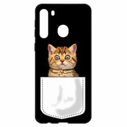 Чехол для Samsung A21 Cat in your pocket