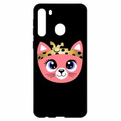 Чехол для Samsung A21 Cat pink