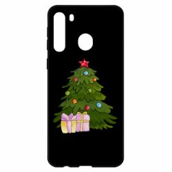 Чехол для Samsung A21 Christmas tree and gifts art