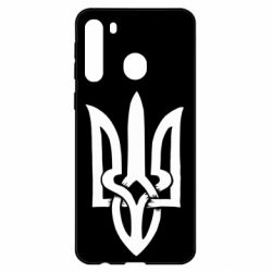 Чехол для Samsung A21 Coat of arms of Ukraine torn inside