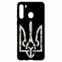 Чехол для Samsung A21 Coat of arms with patterns