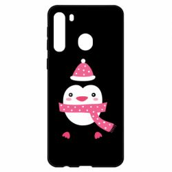Чехол для Samsung A21 Cute Christmas penguin