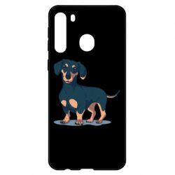 Чехол для Samsung A21 Cute dachshund