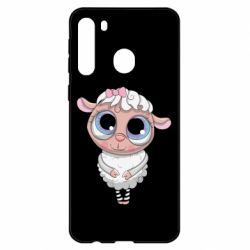 Чехол для Samsung A21 Cute lamb with big eyes