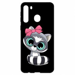Чехол для Samsung A21 Cute raccoon