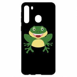 Чехол для Samsung A21 Cute toad