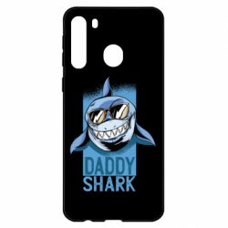 Чехол для Samsung A21 Daddy shark