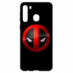 Чехол для Samsung A21 Deadpool Logo