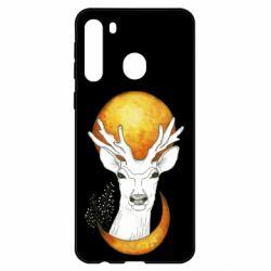 Чехол для Samsung A21 Deer and moon
