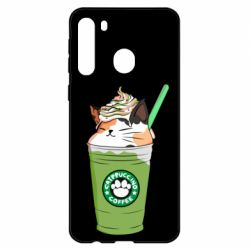 Чехол для Samsung A21 Delicious cat