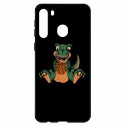 Чехол для Samsung A21 Dinosaur and basketball