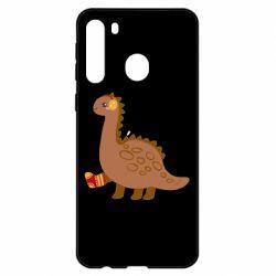 Чехол для Samsung A21 Dinosaur in sock