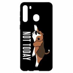 Чехол для Samsung A21 Dog not today