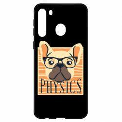 Чехол для Samsung A21 Dog Physicist