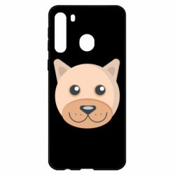 Чехол для Samsung A21 Dog with a smile
