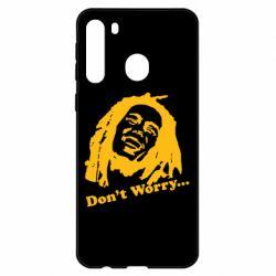 Чехол для Samsung A21 Don't Worry (Bob Marley)