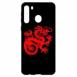Чехол для Samsung A21 Дракон