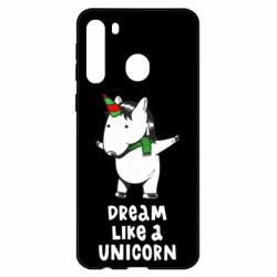 Чехол для Samsung A21 Dream like a unicorn