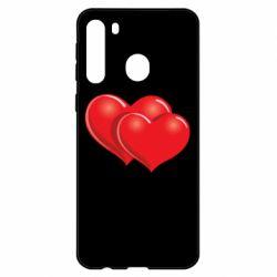 Чехол для Samsung A21 Два сердца
