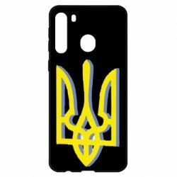 Чехол для Samsung A21 Двокольоровий герб України