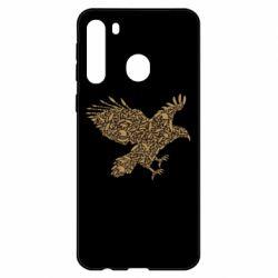 Чехол для Samsung A21 Eagle feather