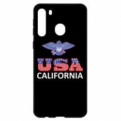 Чехол для Samsung A21 Eagle USA