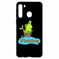 Чехол для Samsung A21 Fish Fishing