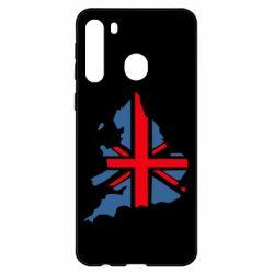 Чехол для Samsung A21 Флаг Англии