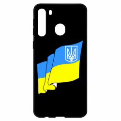 Чехол для Samsung A21 Флаг Украины с Гербом