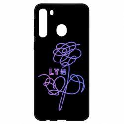 Чехол для Samsung A21 Flowers line bts