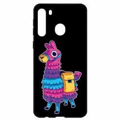 Чехол для Samsung A21 Fortnite colored llama