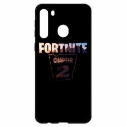 Чехол для Samsung A21 Fortnite text chapter 2