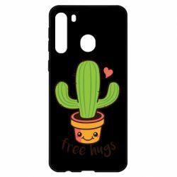 Чехол для Samsung A21 Free Hugs Cactus