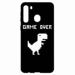 Чехол для Samsung A21 Game over dino from browser