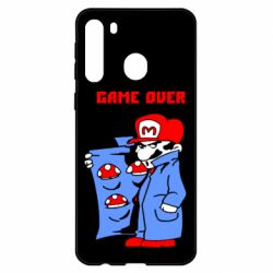 Чехол для Samsung A21 Game Over Mario