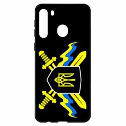 Чехол для Samsung A21 Герб та мечи