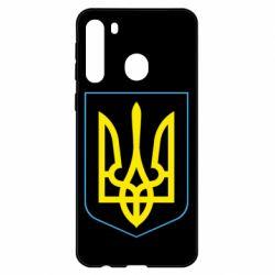Чехол для Samsung A21 Герб України з рамкою