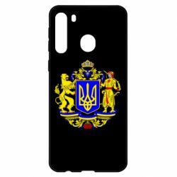 Чехол для Samsung A21 Герб Украины полноцветный