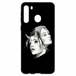 Чехол для Samsung A21 Girl and demon
