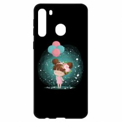 Чехол для Samsung A21 Girl with balloons
