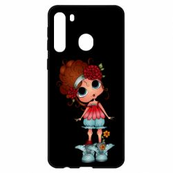 Чехол для Samsung A21 Girl with big eyes