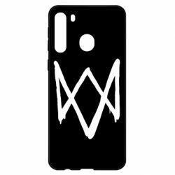 Чехол для Samsung A21 Graffiti Watch Dogs logo