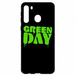 Чехол для Samsung A21 Green Day
