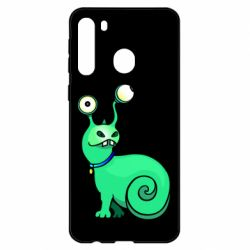 Чехол для Samsung A21 Green monster snail