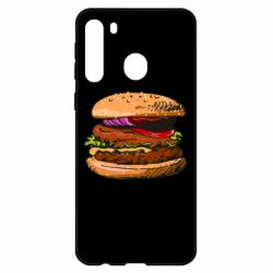 Чехол для Samsung A21 Hamburger hand drawn vector