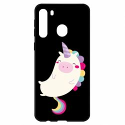 Чехол для Samsung A21 Happy color unicorn