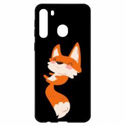 Чехол для Samsung A21 Happy fox