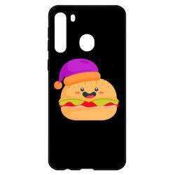 Чехол для Samsung A21 Happy hamburger