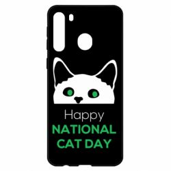 Чехол для Samsung A21 Happy National Cat Day