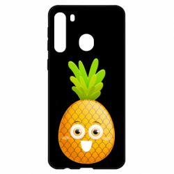 Чехол для Samsung A21 Happy pineapple